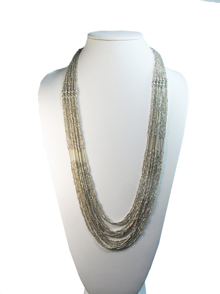 Silver beads and bars - Agabhumi