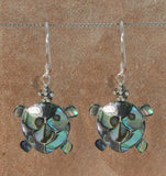 Mosaic Paua Turtle Earrings