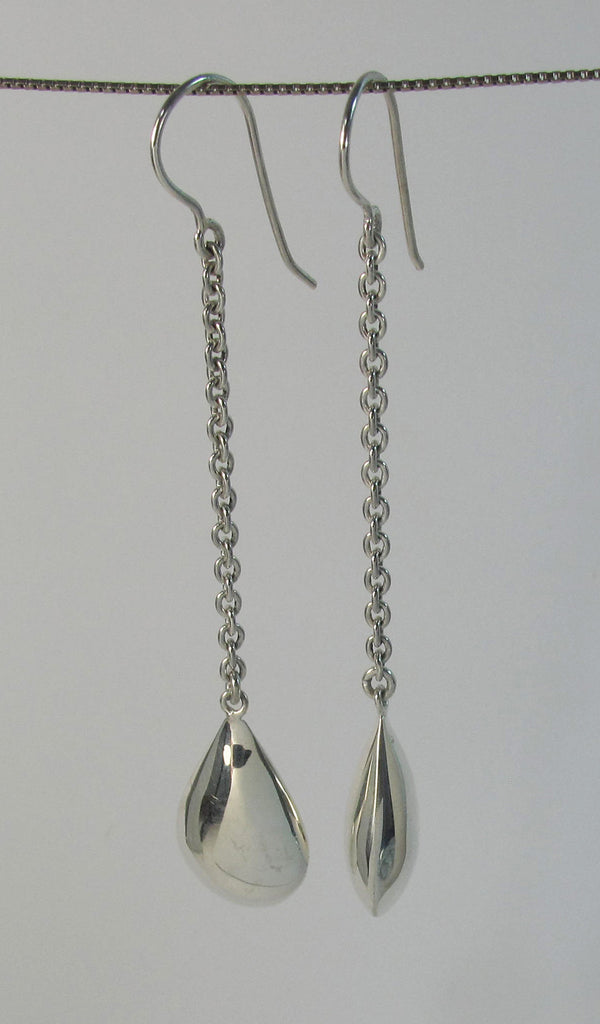 3D Sterling silver drop on silver chain