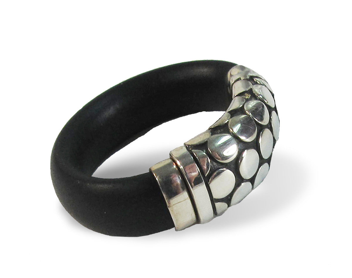 Rubber & Silver Dots Band