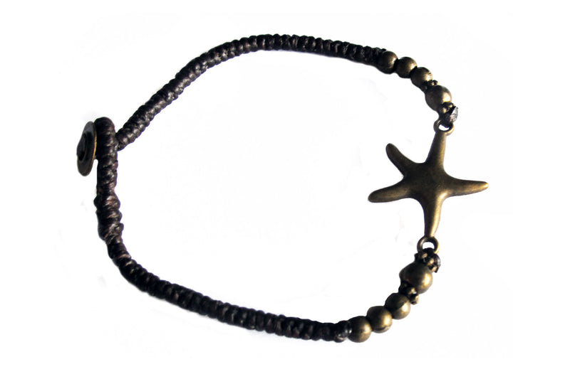 Starfish with beads and cord