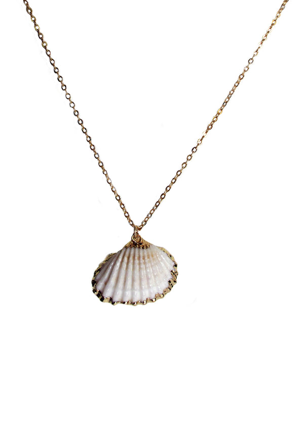 Gold-tone shell necklace