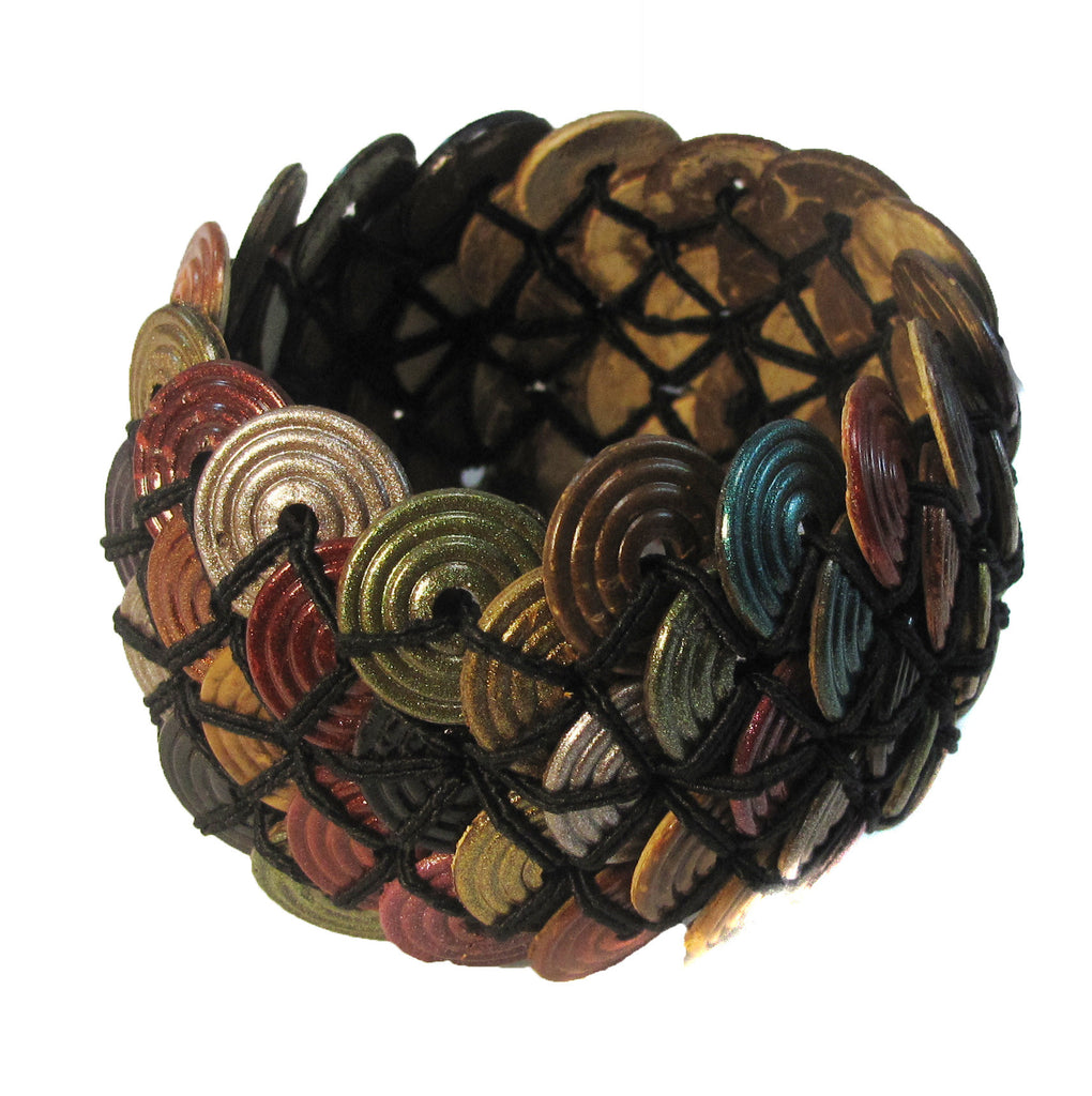 Elastic Coconut shell cuff - Agabhumi - Where Fashion Happens First  - 2