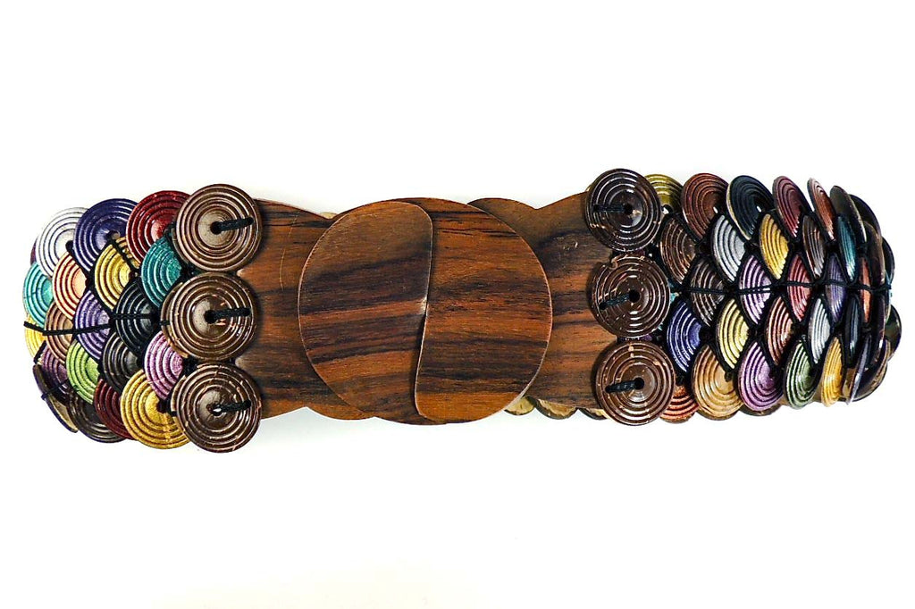 Coconut disk stretch belt - Agabhumi