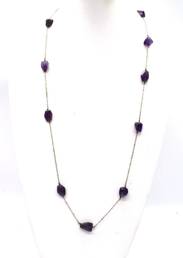 "Amethyst Chunks necklace )(32"" long)"