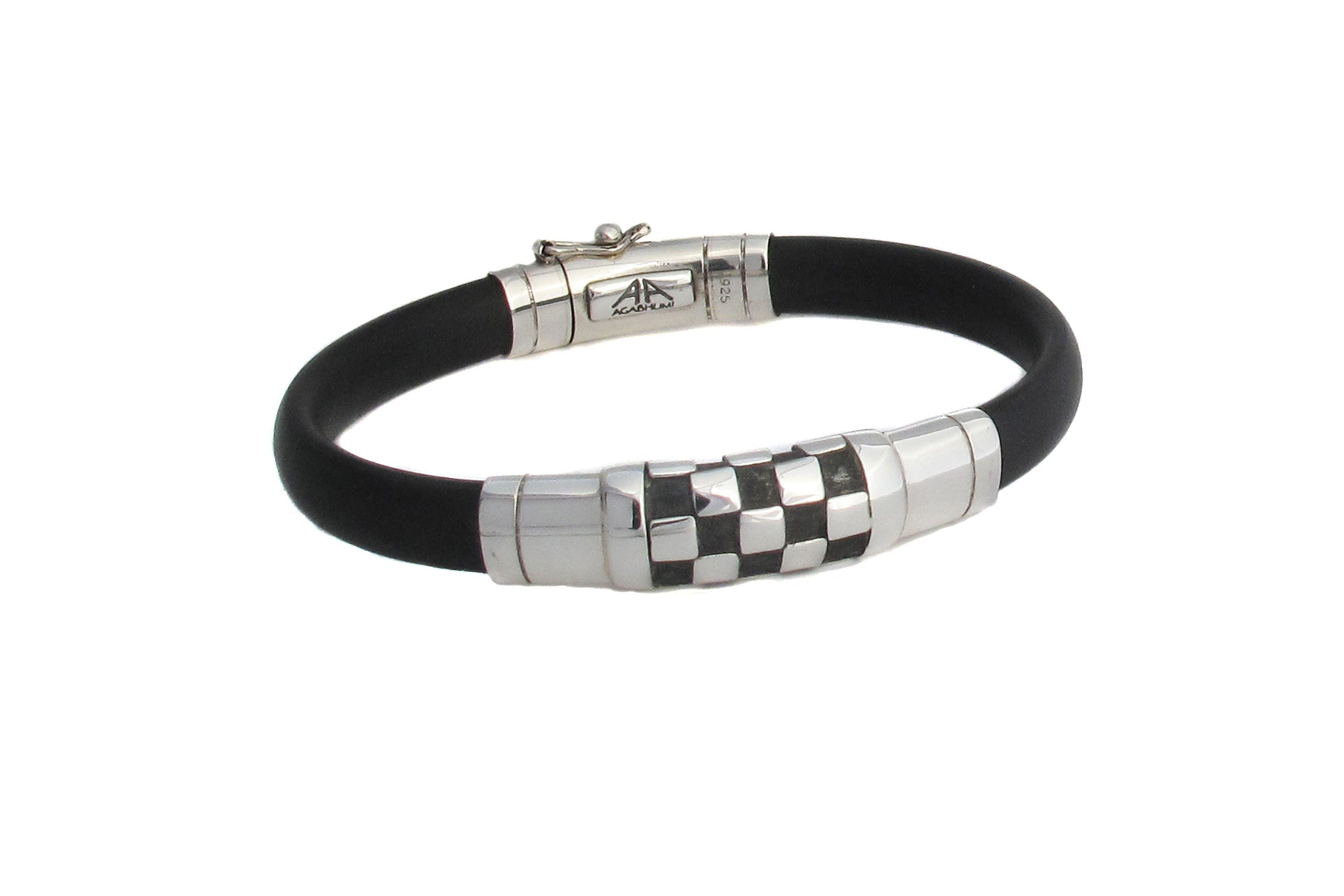 Chessboard Sterling Silver and Rubber