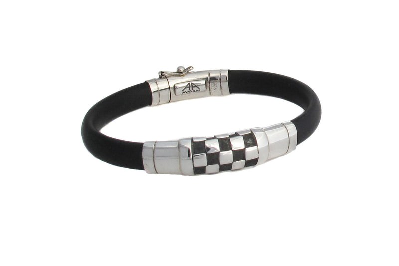 Chessboard Sterling Silver and Rubber - Agabhumi