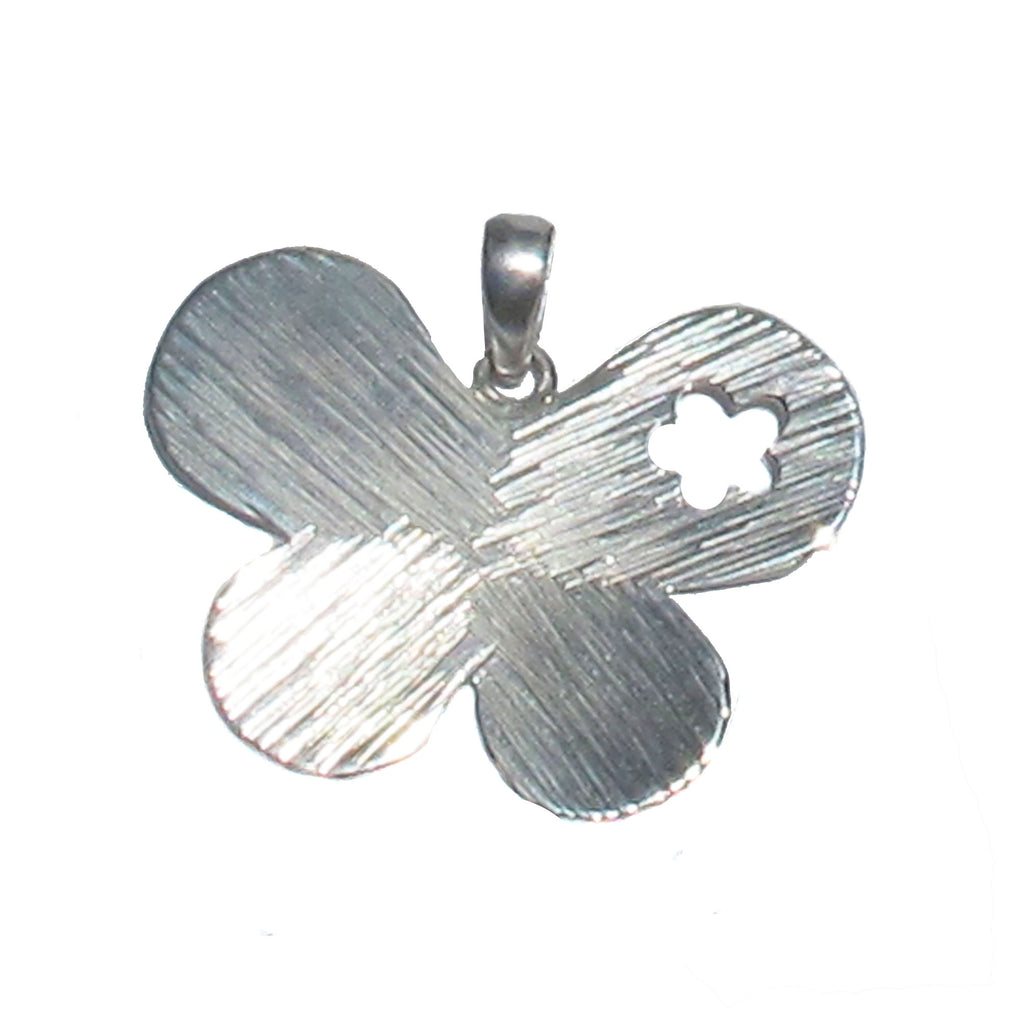 Etched sterling butterfly - Agabhumi