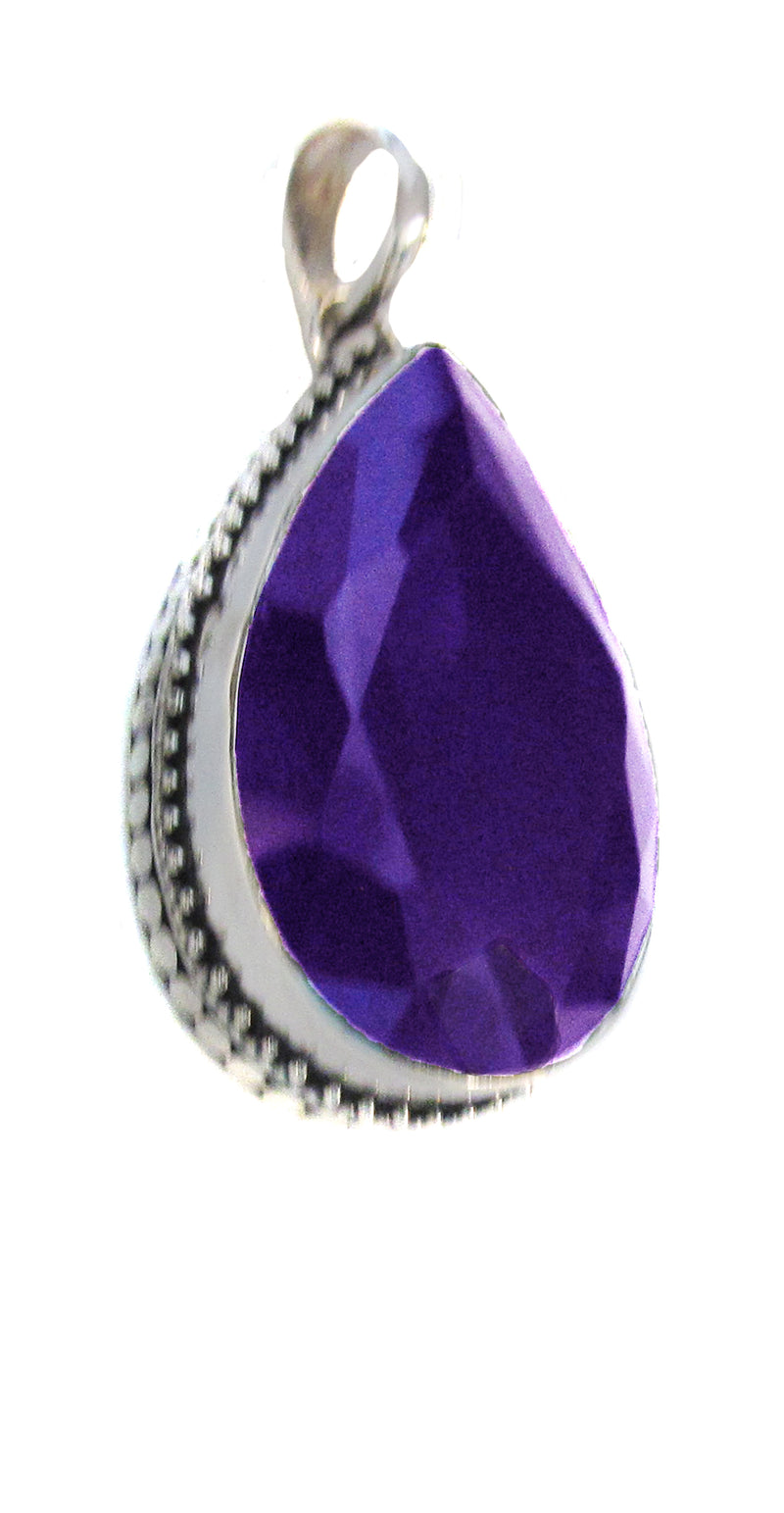 Large amethyst teardrop