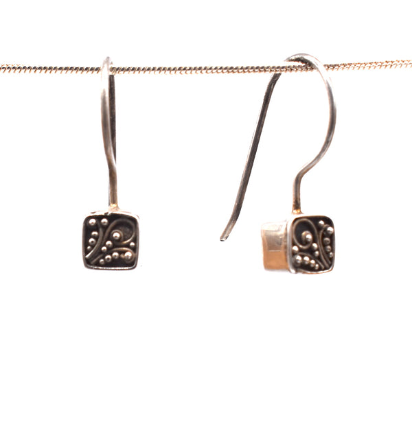Sterling silver box earrring