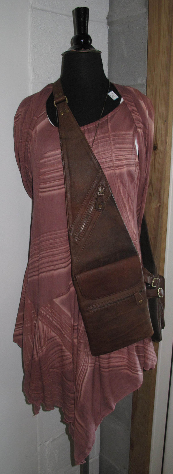 Antique Brown Shoulder Shopper