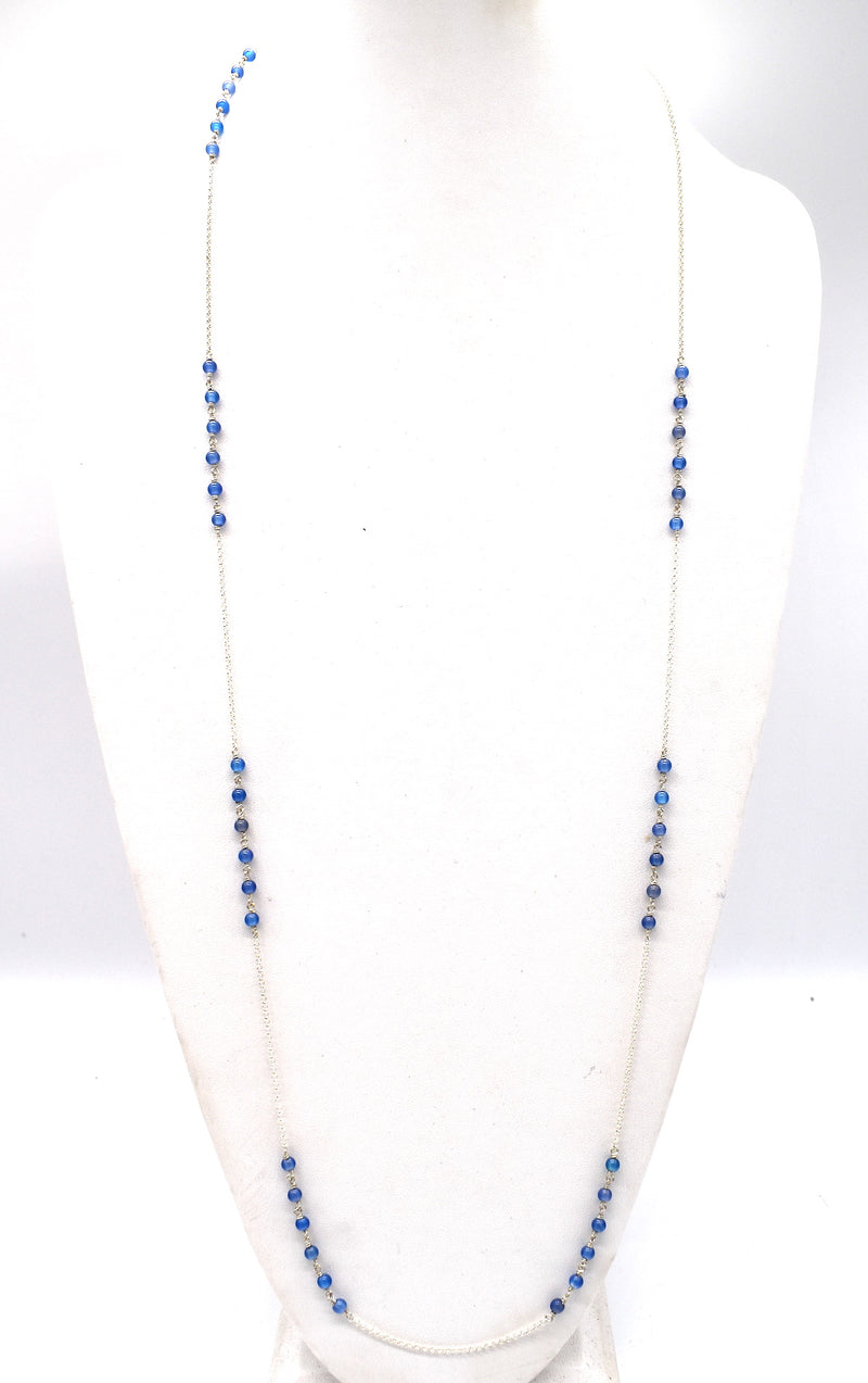 "Oodles of Blue Agate (42"" long)"