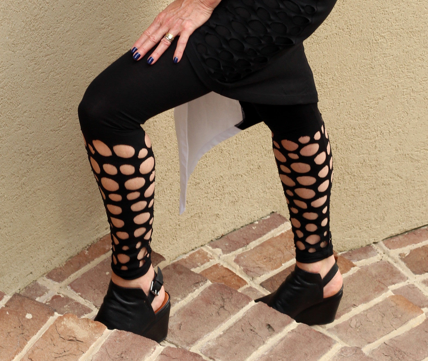Holey Shin Leggings