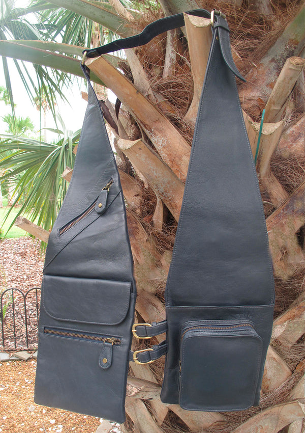 Navy/Grey Shoulder Shopper Covered Pocket