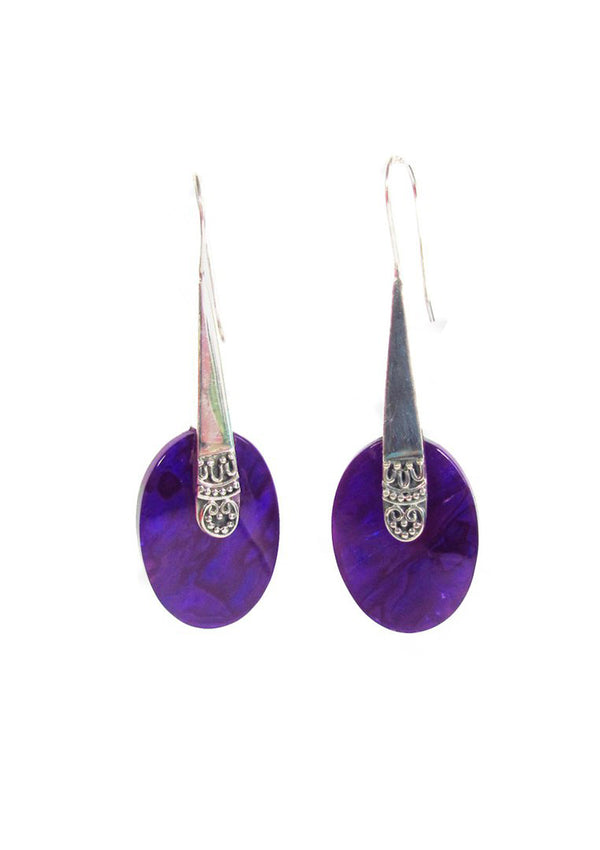 Purple resin oval - Agabhumi