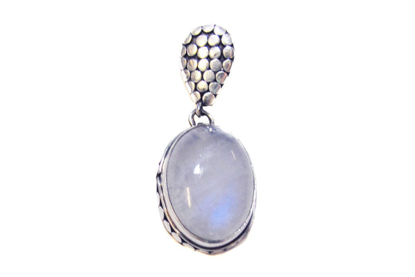 Moonstone pendant with dotted bale