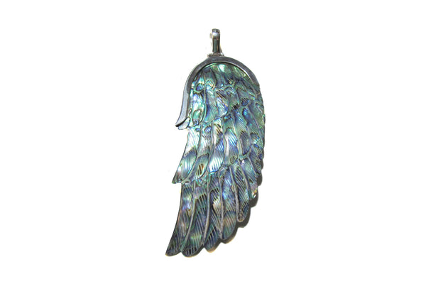 Carved Paua Angel wing - Agabhumi