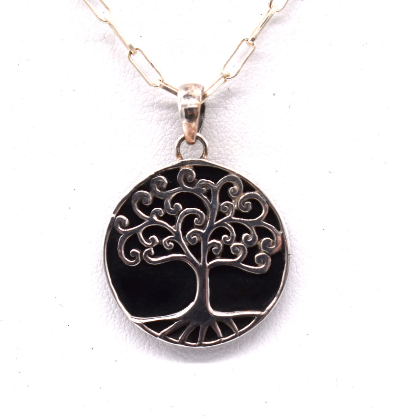Tree of life reversible pendant