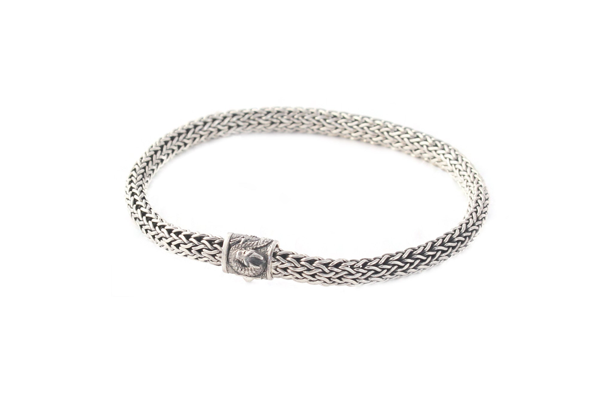 Sterling Silver Bracelet with Dragon motif