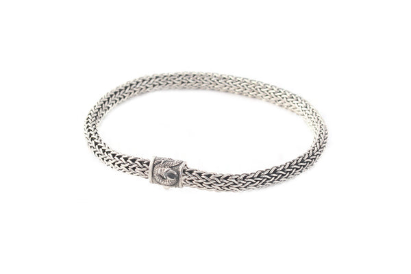 Sterling Silver Bracelet with Dragon motif - Agabhumi