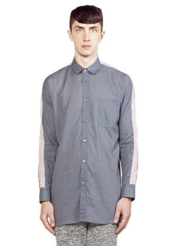 TWO TONE STAND COLLAR SHIRT