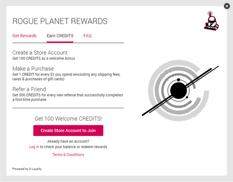 Rogue Planet Rewards - Earn