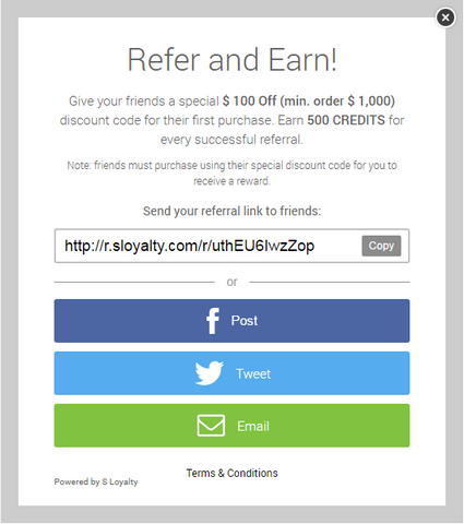 Referral Sharing Overlay