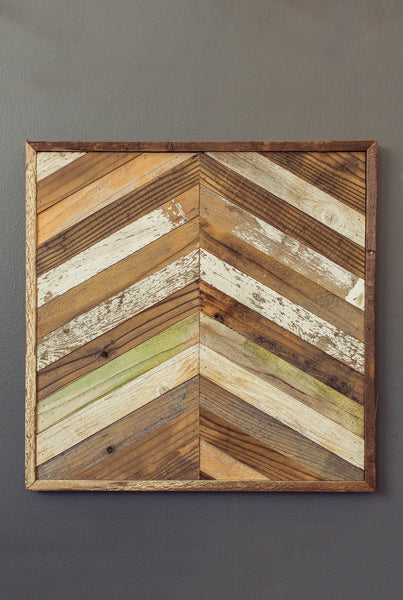 Reclaimed Wood Chevron Panel