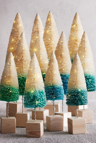 Banded Brushy Lighted Trees