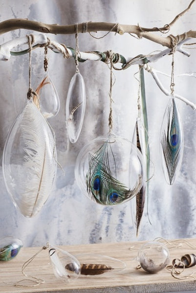 Floating Feather Ornaments