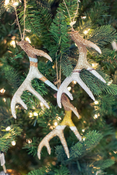 Glittered Antler Ornament