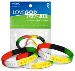 Wordless Gospel – 3 in 1 - Love God Love All™ Wristband pack