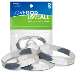 Snow Camo – 3 in 1 - Love God Love All™ Wristband pack