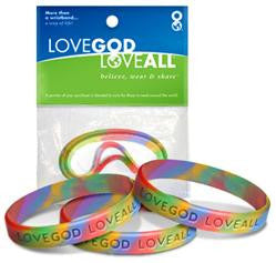 Rainbow Tye Die – 3 in 1 - Love God Love All™ Wristband pack
