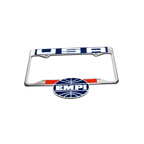 EMPI USA License Plate Frame, Rear, Each - AA Performance Products
