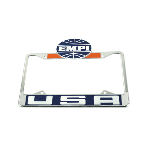 EMPI USA License Plate Frame, Front, Each - AA Performance Products