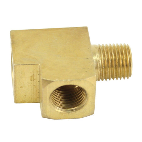 "Brass T-Fitting/Adapter (1/8""), For Gauges, Each"