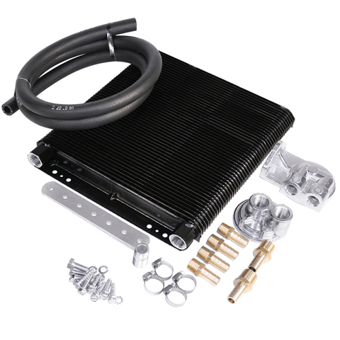 96-Plate Oil Cooler Kit w/Bypass Adapter - AA Performance Products
