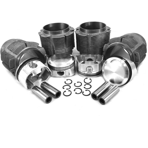 86mm Porsche 356C/912 JE Forged Piston & Cylinder Kit Biral - AA Performance Products