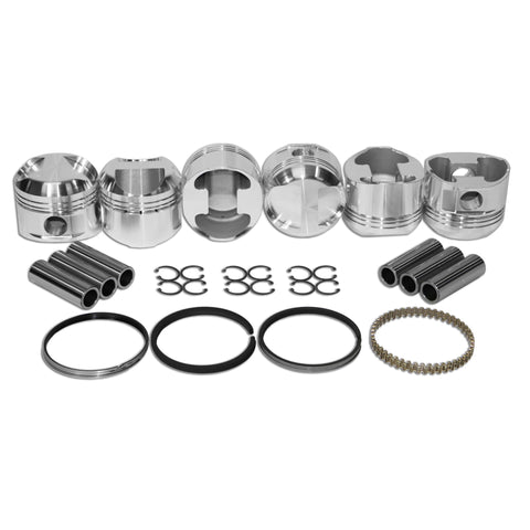 86mm HIGH COMP, Porsche 911 JE Piston Kit 2.2 & 2.4 - AA Performance Products
