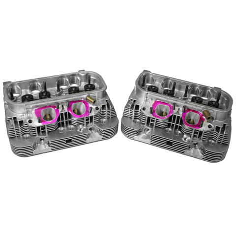 Set of AA Type 4 Heads 48 by 38 Valves, Square Port, Dual High-Rev, Stage 2 P&P - AA Performance Products