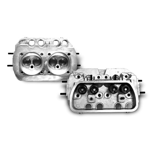 "VW 1600 STOCK DUAL PORT CYLINDER HEAD, 35.5X32 ""Pair"" - AA Performance Products"