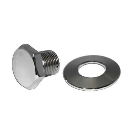 Chrome Crank Pulley Nut & Washer - AA Performance Products