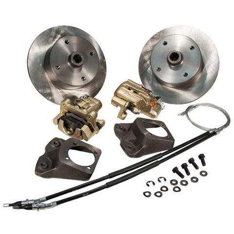 Disc Brake Kit, Rear, e-Brake, 4-Lug (VW Pattern – 4×130) - AA Performance Products