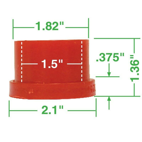 Urethane Axle Beam Bushing Kit, Outer, for King & Link w/ Micarta Bushings, 4 pcs., All the Same
