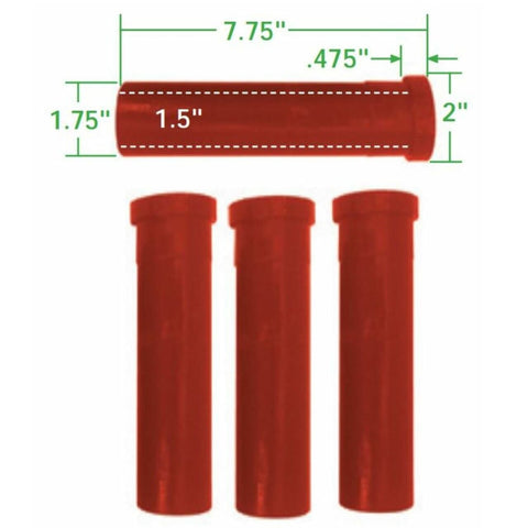 Urethane Axle Beam Bushing Kit, Inner & Outer, for King & Link Pin w/ Needle Bearings, 4 pcs., All the Same