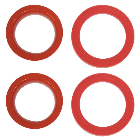 Urethane Axle Beam Tube Seals, Type 1 w/ Ball Joint, 4 pcs., 2 Small, 2 Large