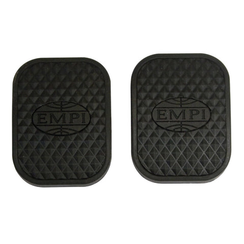 Pedal Pads Clutch / Brake, w/ EMPI Logo, Pair - AA Performance Products