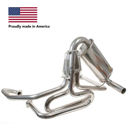 Tri Mil Exhaust, Bobcat, 1-5/8 Standard Header with Quiet-Pac, Ceramic Coated - AA Performance Products
