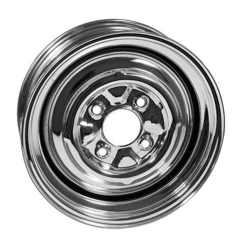 "4 Lug Rim Chrome Smoothie 4/130 4.5"" Wide - AA Performance Products"
